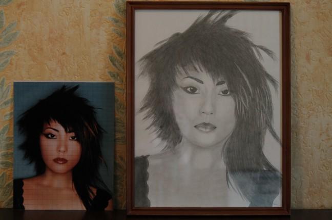 Портрет простым карандашом. Рисуем по сетке