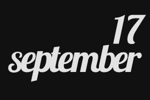 17 сентября — День Рождения нового блога